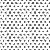 Seamless Black and White Pattern. Polka Dot Texture. Stylish Fashion Print — Stock Vector