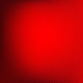 Halftone achtergrond. Rode abstract gespot patroon. Vector illust — Stockvector