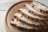 Fresh sliced bread close up. — Stock Photo
