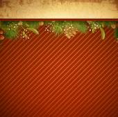 Christmas and New Year Vintage Background — Vettoriale Stock