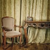 Chair Near The Tale — Stockfoto