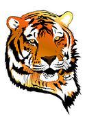 Retrato de tigre — Vector de stock
