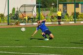 Pushkareva Marina (16), defender, fall down — Stock fotografie