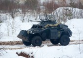 Light armored reconnaissance Sd.Kfz.222 — Stock Photo