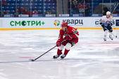 D. Tsiganov (10) dribble — Stock Photo