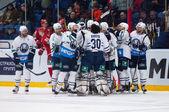Medvezhchak team rejoice of win — Stock Photo