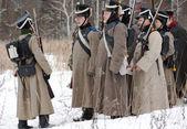 Soldados en fila — Foto de Stock