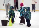 Tres jugadores de hockey — Foto de Stock
