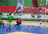 Goal to Volonteers team gate — Stock Photo