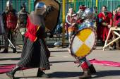 Two knights fight — Stock Photo