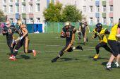 R. Pukhaev (11) dribble — Stock Photo