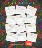 Vector illustration - Calendar 2015 — Stock Vector