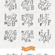Vector set of Hand drawn different fonts for a headlines - Part one — Stock Vector #70833207