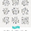 Vector set of Hand drawn different fonts for a headlines - Part three — Stock Vector #70833251