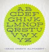 Vector illustration - Hand drawn  fonts for headlines — Stock Vector
