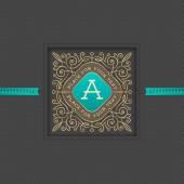 Monogram logo szablon z kwitnie elementy kaligrafii elegancki ornament. Tożsamości projekt z listu do kawiarni, sklep, sklep, restauracja, boutique, hotel, heraldyczne, mody i itp. — Wektor stockowy