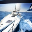 Sailing on Yacht at sunny day — Stock Photo #55681627