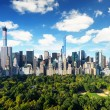 New York City - central park view to manhattan with park at sunny day - amazing birds view — Stock Photo