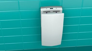 Vertical hand dryer — Stock Video