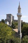 Minaret in St Peter's castle in Bodrum — Stock Photo