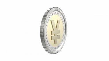 日元或中国的人民币硬币 — 图库视频影像