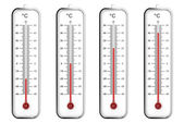 Indoor thermometers in Celsius scale — Stock Photo