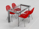 Набор мебели для столовой — Стоковое фото