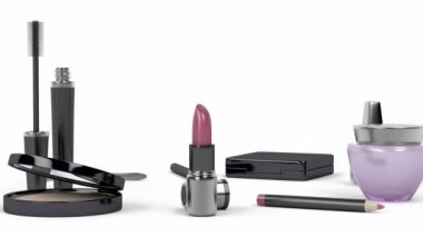 Makeup and cosmetic products — Stock Video
