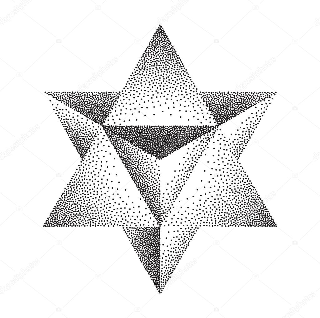 Merkaba or star of david stock vector jakegfx 111576546 for Star of david tattoo designs