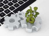 Environmentally sustainable production concept — Stock Photo