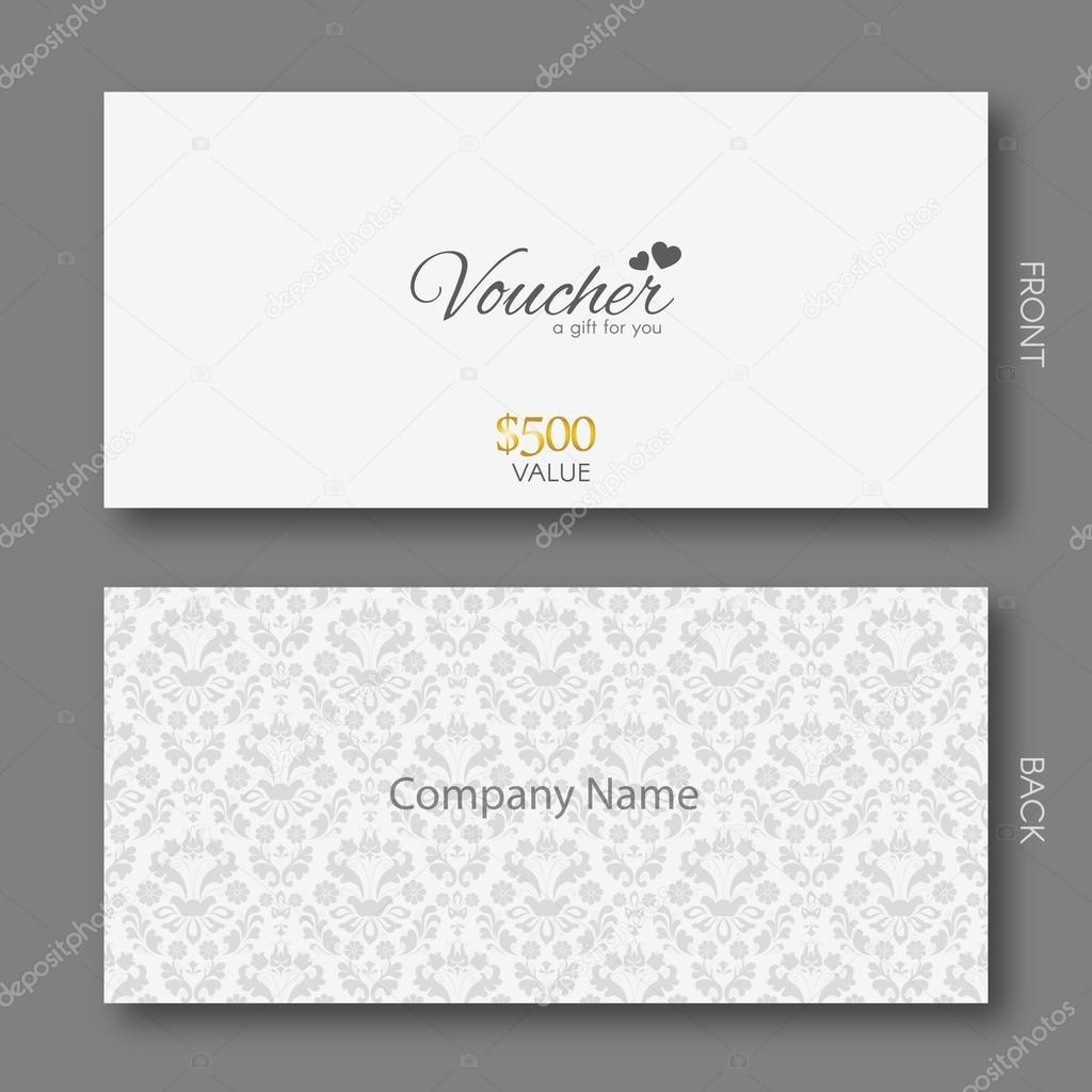 elegant gift voucher template damask pattern stock vector elegant gift voucher template damask pattern stock vector 89127010