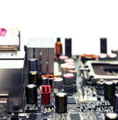 Electronics baseboard macro — Stock Photo