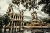 San Sulpice. Paris. — Stockfoto