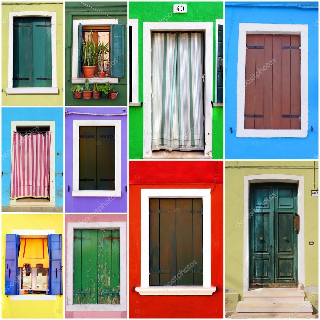 puertas y ventanas colores foto de stock scrabble