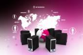 Globalnej sieci komputerowej — Zdjęcie stockowe