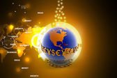 3d illustration of World and currency — Stockfoto