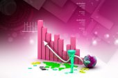 Business graph — Stock Photo