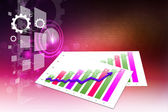 Business grafik 3d — Stockfoto