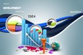 Business graph 3d — Stock Photo