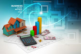 Sale house and calculator — Stock Photo