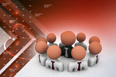 Business group with leader — Stock Photo