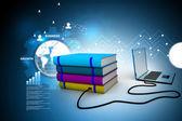 Internet library — Stock Photo