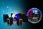 Computer-Netzwerk — Stockfoto