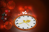 Clock in color background — Stock Photo