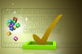 3d multi use check box with check — Stock Photo