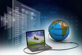 Globale internet-konzept — Stockfoto