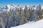 Slope on the skiing resort — Stock Photo