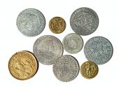 Collection of the medieval coins — Foto de Stock