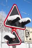 冬天在瑞士的阿尔卑斯山 — 图库照片