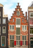 Traditional houses of the Amsterdam — Zdjęcie stockowe